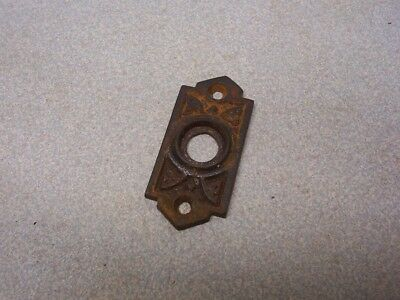 Antique Very Ornate Old DOORBELL Plate unique small unusual old Rare
