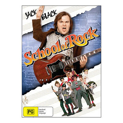 School of Rock  DVD  Brand New Aus Region 4 - Jack Black