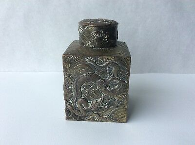 Early 20th Century Chinese Tea Caddy w/ Dragons
