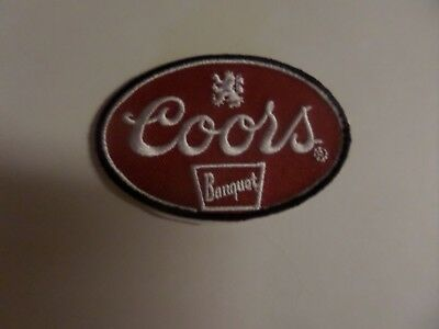 Coors Beer Embroidered Iron On Patches 2 X 3