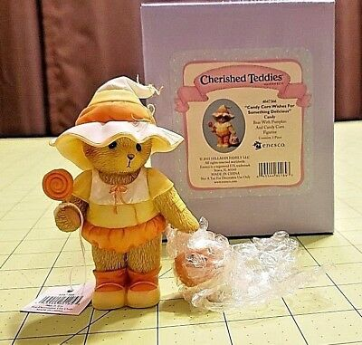 Cherished Teddies 4047366 Candy Corn Wishes For Something Delicious Halloween