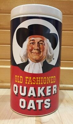 Vintage Quaker Oats Cookie Jar Ceramic Canister Famous Oatmeal Recipe On Back