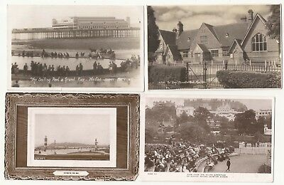 7 England +  1 Scotland postcards. multiple locations. 1900-1960 Real photo