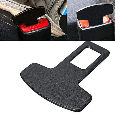 Car Accessories Safety Seat Belt Buckle Alarm Stopper Eliminator Clip Black 1pc