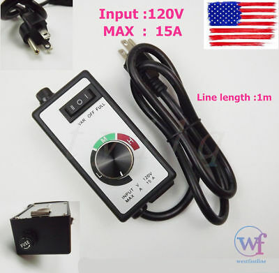 Newest For Router Fan Variable Speed Controller Electric Motor Rheostat AC 120V