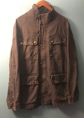 Men's Converse One Star Jacket Gray Zippered Field  Military Style Size L Reade