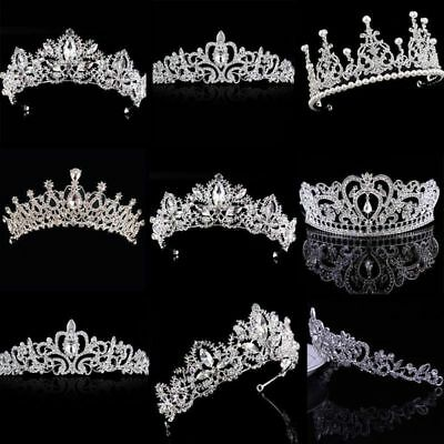 Charm Women Girls Rhinestone Tiara Hair Band Bridal Princess Prom Crown Headband