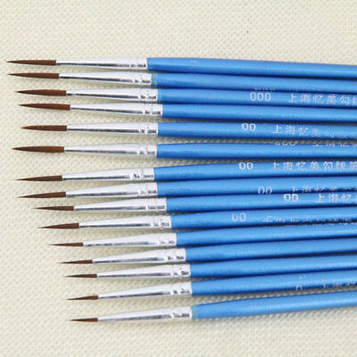 Drawing Art Pens Painting Brushes Fine Hand-painted Thin Hook Line Pen 10Pcs/Set