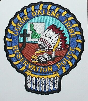 COEUR D'ALENE TRIBE RESERVATION POLICE Idaho ID Indian PD patch