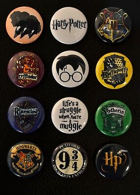 Harry Potter - 1 Inch Buttons - Set of 12 - (  FREE Shipping  )