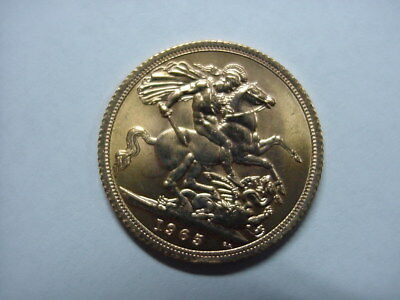 1965 Great Britain Uk Gold England Whole Full Sovereign Nice Gem Bu Coin