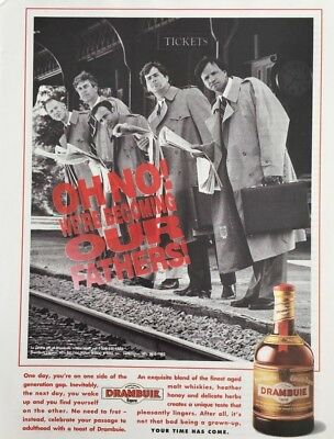 1993 DRAMBUIE Liqueur Oh No! We're Becoming Our Fathers!  Vintage PRINT AD