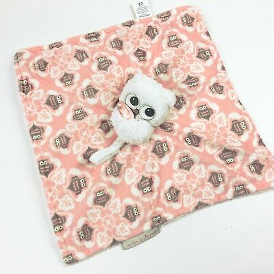 Blankets and Beyond Owl Security Blanket Baby Pink Soft Lovey