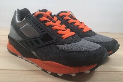 b0fb763288587 Brooks Regent Men s Retro Running Shoe Mens size 7 Womens size 9 Grey Orange
