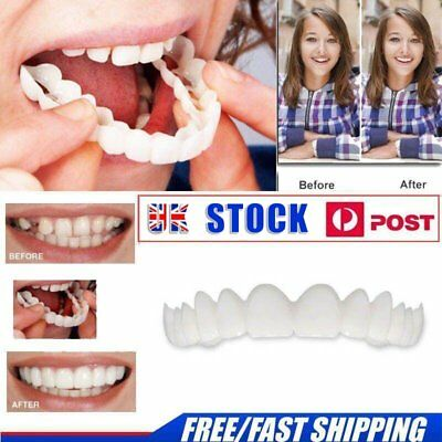 Perfect Smile Instant Teeth Cosmetic Veneers Snap On Comfort Covers Fix OneSize