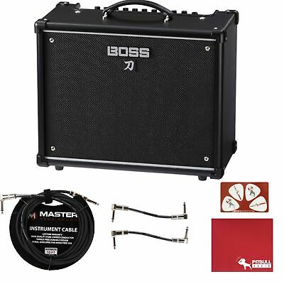 "BOSS Katana 50 50W 1x12"" Guitar Combo Amplifier w/ Cloth Pick Card & Cables"