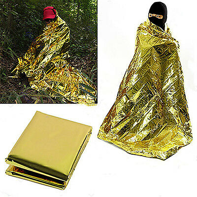 210*160 cm Waterproof Emergency Survival Foil Thermal First Aids Rescue Blanket.