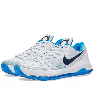 d6d50142cafd closeout nike kd 8 viii home white photo blue size 10. 749375 144 kevin  durant