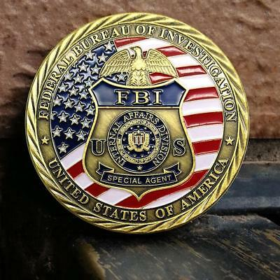 2018 Diameter 45mm FBI United States Collection Commemorative Coin