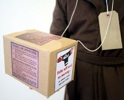 Wartime-1940's-Historical Gas Mask Box & Luggage Label-Childs School History Set