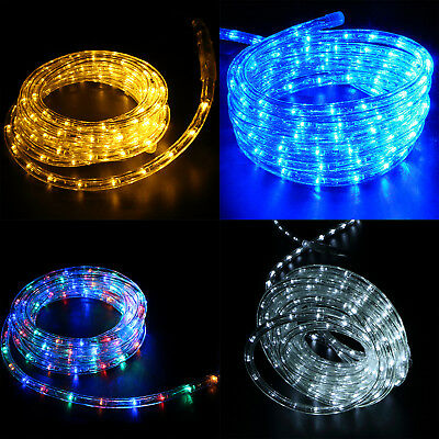 10/25' 110V Led Rope Light Outdoor Xmas Decorative Party Lighting Waterproof