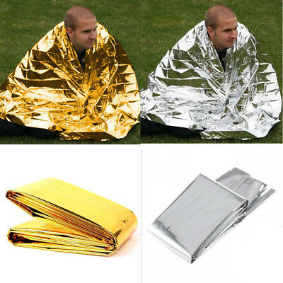 Camping Foil Space Blanket Emergency Survival Blanket Thermal Rescue First Aid