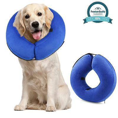 Protective Inflatable Cone Collar for Dog and Cat Adjustable Soft Pet Recovery