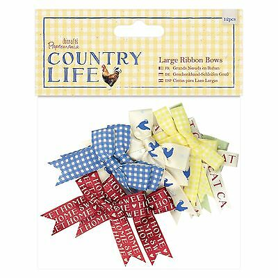 LARGE RIBBON BOWS - The Country Life Collection - Docrafts