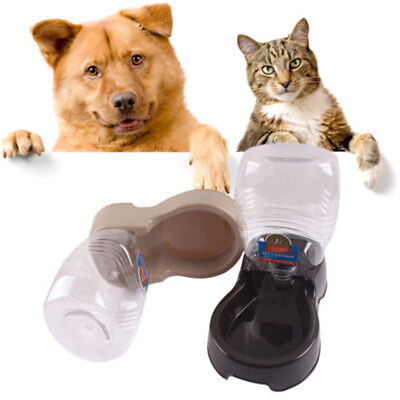 Automatic Pet Dog Cat Puppy Water Dispenser Food Dish Bowl Feeder Drinking