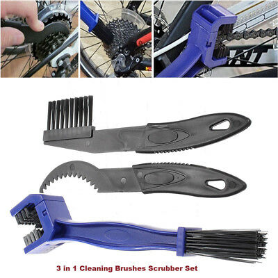 3X Cycling Chain Wheel Brush Cleaner Wash Set Motorcycle Bicycle ATV MX Moto