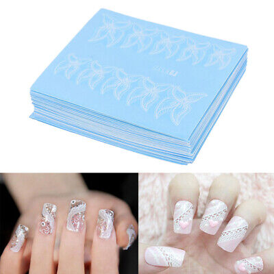48 Sheets Lace Flower Nail Art Water Transfer Decal Sticker Manicure Tips DIY