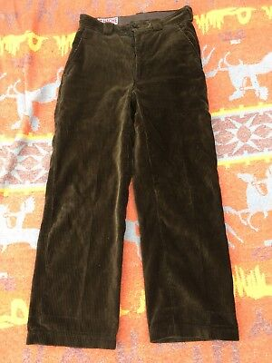 Vintage 1940's French Brown Corduroy Trousers - Workwear Farming Hunting
