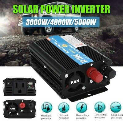 3000W/4000W/5000W Solar Power Inverter DC 12V To AC 110V/220V Sine Wave Convert