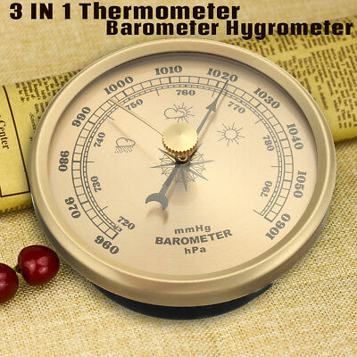 Wand Wetterstation / Thermometer Barometer / Hygrometer 70MM Boot Garten Outdoor