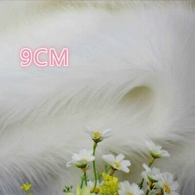 7CM Luxury Long Haired Faux Fur Fabric Pile Plush Fluffy Display Background Prop
