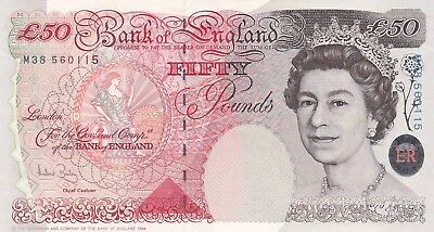 Great Britain, 50 pounds Banknote (2006)  QEII, UNC