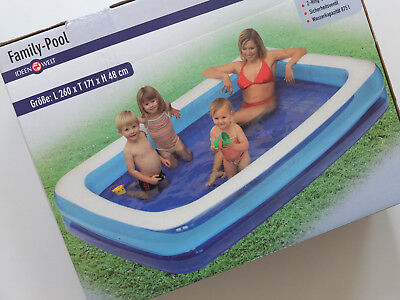 Family Pool Kinderpool 260x171x48cm Swimmingpool Neu Ovp Ideen Welt