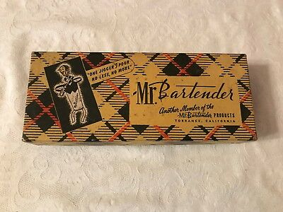 Vintage Mr. Bartender Executive ONE JIGGER Chrome Pouring Measuring Spout