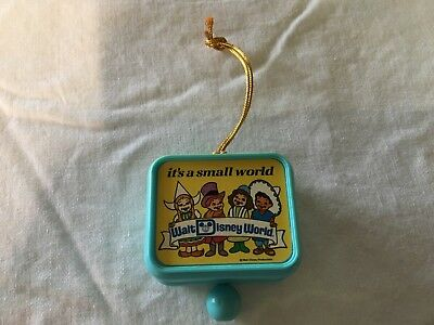Vintage  IT'S A SMALL WORLD Music Box Ornament -Japan Pull String