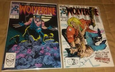 Wolverine 1 & 10 NM-/NM 1988 KEY run set lot 1st vs Sabretooth Claremont 1989