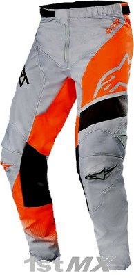 2019 Alpinestars Racer Supermatic Grey Orange Black Race Motocross Pants Adults