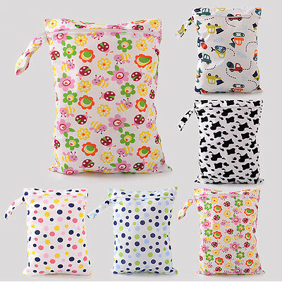 UK_ Baby Infant Washable Nappy Storage Diaper Bag Wet Dry Cloth Waterproof Serap