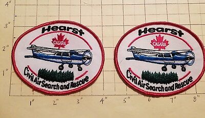 Hearst (ON,Canada) Civil Air Search & Rescue Patches - Set of 2     ***NEW***
