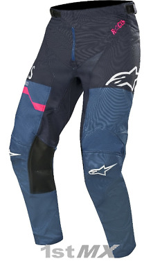 2019 Alpinestars Racer Flagship Navy Flou Pink MX Race Motocross Pants Adults