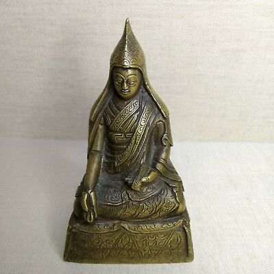 Antique Sino-Tibet bronze monk, 19th-20th century.