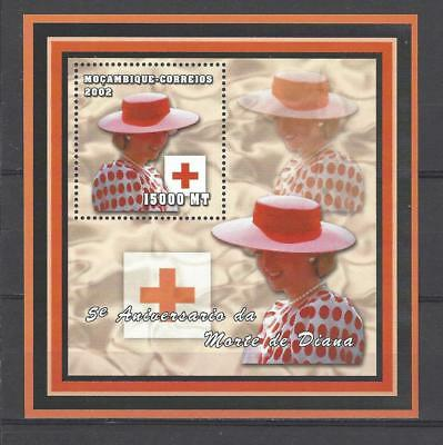 Mozambique 2002 5th Anniv. Death of Princess Diana-With Red Cross Emblem MNH S/S