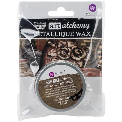 NEW Prima Finnabair Art Alchemy, Metallique Wax  .68 fl oz, 20 ml, Bronze Age