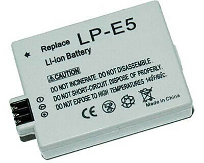 Replacement Battery for Canon LP-E5 EOS 450D 500D 1000D Rebel XS XSi F X3 X2 T1