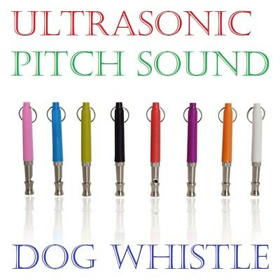 Dog Puppy Training Whistle Silent Ultrasonic Sound Pitch Adjustable 8 Colors A++