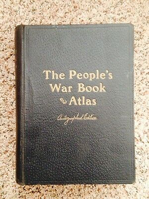The People's War Book and Atlas, Color Maps Autographed Edition, 1920, Nice Book